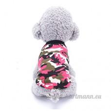 Minkoll animal domestique Chien Vêtements  mince Coton Gilet de chiot Costumes T-shirt imprimé (XS  Rouge coloré) - B07DHF1THZ