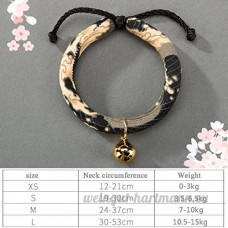 shanzhizui Style rétro Chats Collier Cloches de chat Cercle de chat Corde de chat Collier Fournitures pour animaux Taille réglable  009  M - B07DHZ8B8K