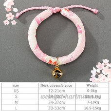 shanzhizui Style rétro Chats Collier Cloches de chat Cercle de chat Corde de chat Collier Fournitures pour animaux Taille réglable  011  S - B07DJ1G2T7