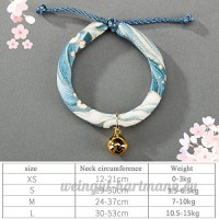 shanzhizui Style rétro Chats Collier Cloches de chat Cercle de chat Corde de chat Collier Fournitures pour animaux Taille réglable  006  xs - B07DJ24FFH
