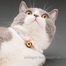 shanzhizui Style rétro Chats Collier Cloches de chat Cercle de chat Corde de chat Collier Fournitures pour animaux Taille réglable  001  xs - B07DJ21RSN