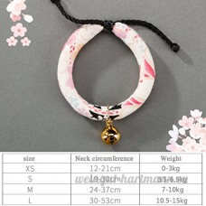 shanzhizui Style rétro Chats Collier Cloches de chat Cercle de chat Corde de chat Collier Fournitures pour animaux Taille réglable  010  S - B07DJ16TR4