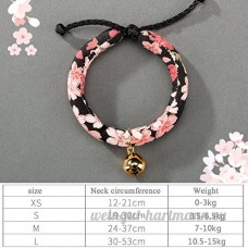 shanzhizui Style rétro Chats Collier Cloches de chat Cercle de chat Corde de chat Collier Fournitures pour animaux Taille réglable  008  L - B07DJ1WJH7