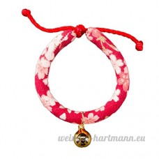 shanzhizui Style rétro Chats Collier Cloches de chat Cercle de chat Corde de chat Collier Fournitures pour animaux Taille réglable  003  M - B07DHZMNKQ