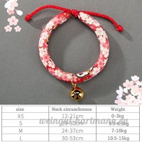 shanzhizui Style rétro Chats Collier Cloches de chat Cercle de chat Corde de chat Collier Fournitures pour animaux Taille réglable  007  S - B07DHZHPPS