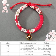 shanzhizui Style rétro Chats Collier Cloches de chat Cercle de chat Corde de chat Collier Fournitures pour animaux Taille réglable  005  xs - B07DHZ5X3J
