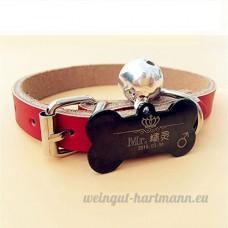 Chien carte d'identité carte personnalisée Golden Retriever Teddy chien collier pour animaux lettrage Laser personnalisation de marque chat Collier cloche   014   XL - B07CCZW3M7