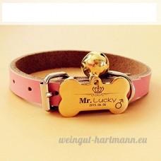 Chien carte d'identité carte personnalisée Golden Retriever Teddy chien collier pour animaux lettrage Laser personnalisation de marque chat Collier cloche   008   S - B07BQZ3SQ9