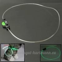 Jdon-pet  Fibre Optique 3-Mode Luminous Pet Decoration Collier Bracelet - B079KSVXYD