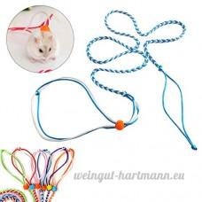 UEETEK Harnais réglable Hamster Leash and Collar Walking Lead pour Hamster Cricetulu Mouse Mouse Squirrel Petits Animaux Flexible Handle Rope 2M (Aléatoire Couleur) - B074K7B1WH