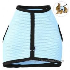 Petacc Harnais Rabbit Leash Set harnais réglable pour animaux de compagnie et laisse harnais pour animaux de compagnie  idéal pour les lapins  les furets et les cobayes  Celeste (M) - B07CKQ2B5V