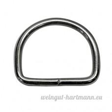 20mm de d anneaux soudés en acier de 3mm d'épaisseur  nickelé  Lot de 20 - B00YC6IQPO