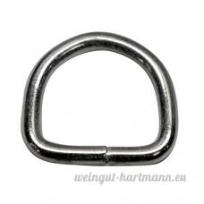 18mm de d anneaux soudés en acier de 3mm d'épaisseur  nickelé  Lot de 20 - B00YC6DS7U