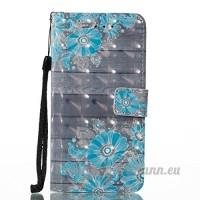 iPhone Coque Wallet Card Holder avec béquille fin Coque pour iPhone [avec film de protection d'écran en verre trempé] - B07DCJGSKZ