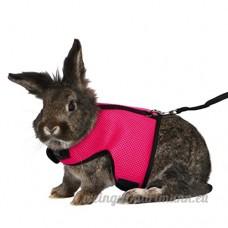 URIJK Harnais Souple Ajustable pour Lapin avec Laisse Elastique Vêtement Petit Animaux Domestique Veste pour Lapin Harnais Réglable Hamster - B07CWK64R6