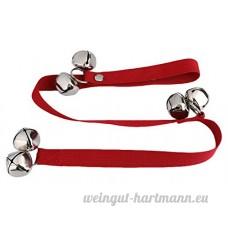 La Vogue Porte Sonnette pour Chien Chat Animaux Suspendre Dressage Grelot Clochette Rouge - B075QZK241