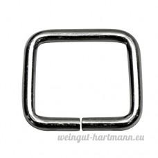 Bague carrée  Frame  en acier  nickelé 20/20/3mm d'épaisseur 3mm taille  40STUECK - B00YD439N4