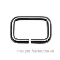 Bague carrée  Frame  en acier de 2mm d'épaisseur  nickelé  16mm de largeur  50STUECK - B00YD3GEQ4