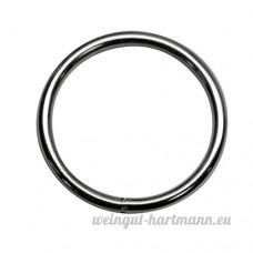 40mm rond (Dimensions intérieures) O bague Anneaux  soudé en acier  de 4 0mm d'épaisseur  nickelé  Lot de 10 - B00YCILAZ0