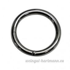 25mm rond (Dimensions intérieures) O bague Anneaux  soudé en acier  de 4 0mm d'épaisseur  nickelé  Lot de 15 - B00YCHMU8C