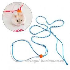 UEETEK Harnais pour hamster/gerbille/souris Laisse de séciroté Flexible - B076FQZW5S