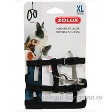 Zolux Casual Kit Harnais pour Petit Mammifère Noir Taille XL - B00C3MK0XU