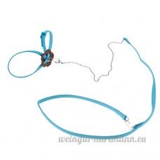 Sharplace Harnais Laisse de Lézard Perroquet Souris Anti-morsure en Nylon - Bleu - B07BWC5J7X