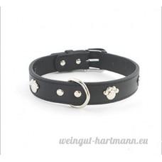 SMACO-laisse Collier pour chien collier tour de cou grand collage collier de chien fournitures pour animaux de compagnie collier noir/brun  black - B07B92X34D