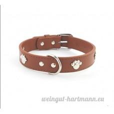SMACO-laisse Collier pour chien collier tour de cou grand collage collier de chien fournitures pour animaux de compagnie collier noir/brun  brown - B07B943NFD