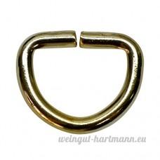 20mm anneaux en D en acier 4 0mm d'épaisseur  or  50Pièces - B017BODMP2