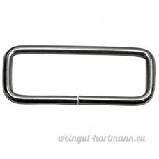 Bague carrée  Frame  en acier de 3mm d'épaisseur  nickelé  45/15/3mm Taille  30Pièces - B00YD4MUE8