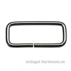 Bague carrée  Frame  en acier nickelé  40/15/3mm Dimensions 3mm d'épaisseur  25STUECK - B00YD4KA0Y