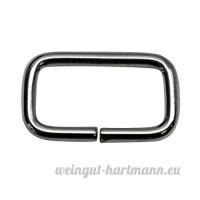 Bague carrée  Frame  acier de 3mm d'épaisseur  nickelé  25/12/3mm Taille  30STUECK - B00YD467JW
