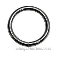 28mm rond (Dimensions intérieures) O bague Anneaux  soudé en acier  de 4 0mm d'épaisseur  nickelé  Lot de 15 - B00YCIBS8O
