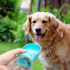 Gugutogo Bouteille d'eau potable en plastique potable de catégorie comestible de chien de la bouteille de Fedding de chien de 350ML (couleur: bleu) - B07DGWH5LS