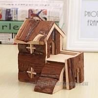 Running Pet Natural Hamster Maison en bois naturel en bois mastication Petit Animaux cachette - B0747HY57X