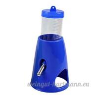 UEETEK Hideout de petit animal Pet Hideout Drinking 2 en 1 bouteille d'eau avec cabine de base en plastique Habitat vivant pour Hamster nain (bleu) - B0721CCK84
