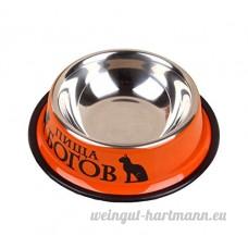 Scrox Bol de nourriture pour chien en acier inoxydable , Antidérapant durable Chien Chat Pet Food Bowl Orange - B0772QGB4V