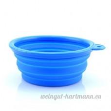 Ourbest Portable pour animal domestique Nourriture/Eau pliable Bol–-orange - B01LWE2DCD