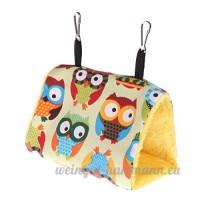 GUBENM nichoir oiseaux à suspendre- Perroquet nid hamac suspendu cage chaud hiver oiseaux Cage lit jouets Hamster House (2 hibou) - B07D3SY7JZ