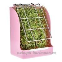 Herbe Cadre Lapin Feeder Hay Manger Rack pour petit animal  lapin  cochon d'Inde  Galesaur  furet (Pink) - B07CLL3RBQ