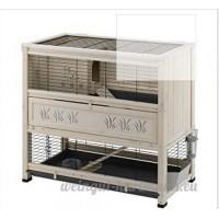 Ferplast Élégant clapier d'intérieur en bois à 2étages pour lapins de petite taille et cochons-d'Inde - B00TYG29SC