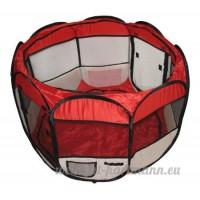 BUNNY BUSINESS Parc pliable en tissu pour lapins/cochons d'Inde - B00M89W9DM
