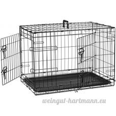 AmazonBasics Cage pliante en métal avec 2portes pour chien TailleM - B018YCU79O