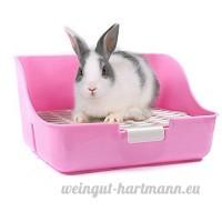 Boîte à litière de lapin MMBOX facile à nettoyer  pour apprendre à utiliser la toilette  pour petits animaux/lapins/cochons d'Inde/furets - B072KXQMYW