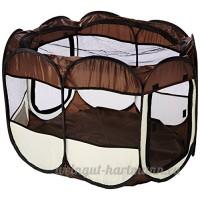 BUNNY BUSINESS Parc pliable en tissu pour lapins/cochons d'Inde - B00M89W96O