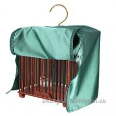Housse De Cage D'oiseau Universelle Polyester Imperméable Perroquet Canari Ombre Tissu Produits Pour Animaux De Compagnie-carré Vert 31*31*37cm - B01N19I5GS