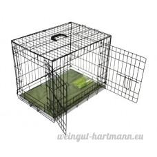 BUNNY BUSINESS Cage en métal avec 2 portes  matelas et rouleaux Noir - B00JUF3BW0