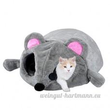 Tunnel de lit pour chat 2-en-1 pour chat - B076KT2TWR