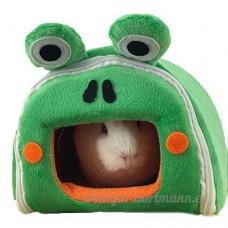 ZuckerTi Maison/niche pour petits animaux (écureuils  chinchillas  cochons d'Inde  rats  souris  hamsters  lapins) Peut être transformée en tapis - B075R77YNC